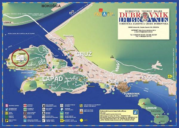 Dubrovnik Hotels Map Dubrovnik City Map 2 1 mb
